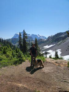Matt and Zoe at Mt Baker